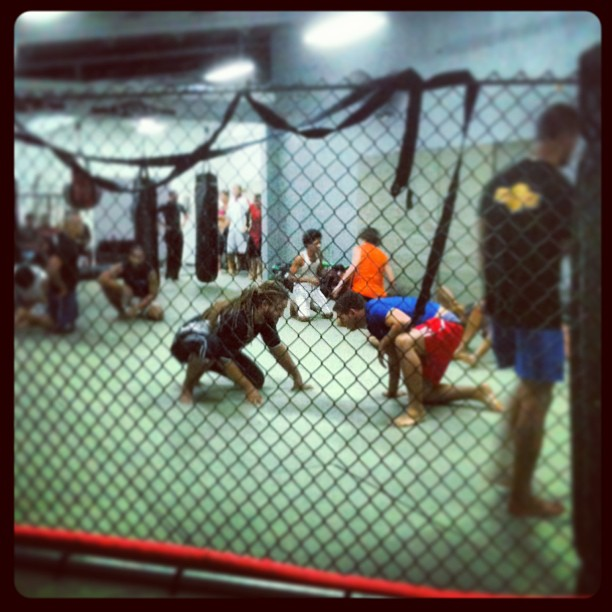 Rough House athletes training in submission grappling.