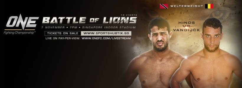 Hinds ready for One Fighting Championship debut November 7th